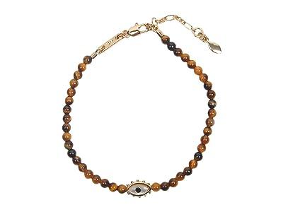 Rebecca Minkoff Evil Eye Semi Precious Bracelet (Gold/Dark Brown) Bracelet