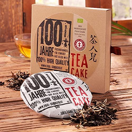 Tea Cake Weißer Tee Moonlight First Grade Bio, gepresster Weißer Tee aus China (200 g)