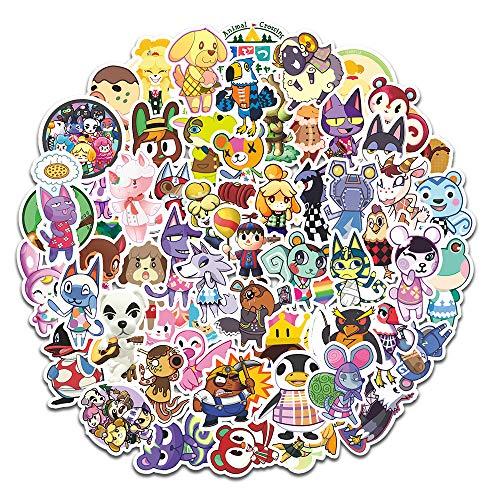 LINGJIA animal crossing 60 Animal Mori Sticker Suitcase Laptop Mobile Phone Senyou Cartoon Waterproof Sticker.