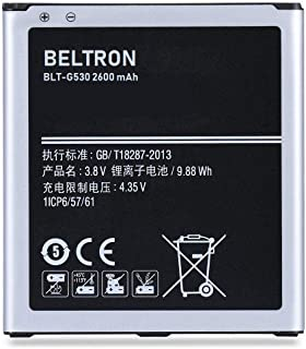 New 2600 mAh BELTRON Replacement Battery for Samsung Galaxy Grand Prime G530, Galaxy J3 J320, J337, J3 2018, Galaxy On5 G550 (BLT-G530)