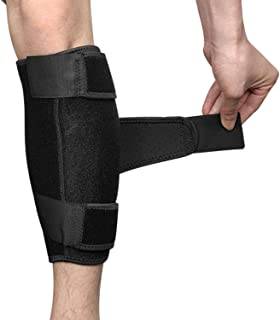 Calf Brace Adjustable Shin Compression Support - Lower Leg Wrap for Men and Women (1 Pack)