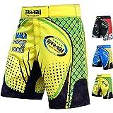 FARABI F2W MMA Shorts Kick Boxing Muay Thai Training Match Fight Short (Yellow Green, Large)