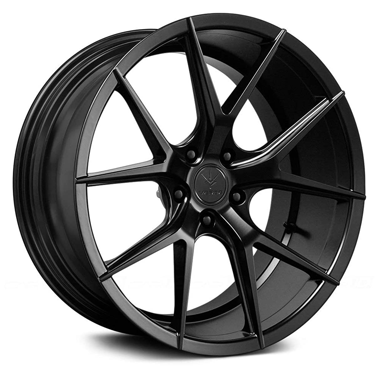Verde Custom Wheels Axis Satin Black Wheel with Painted Finish (20 x 10.5 inches /5 x 115 mm, 25 mm Offset)