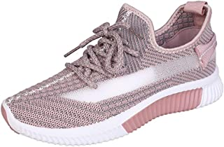 OUYAWEI Outdoor Product for Women Fashion Mesh Soft Bottom Breathable Running Casual Shoes
