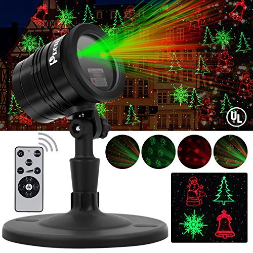 Outdoor Christmas Light Projector Red and Green Show