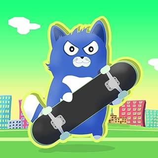 Little Kitty on a Skateboard : The Cat Skate Race Game Fun Simulator - Gold Edition