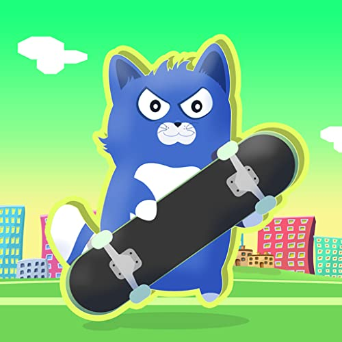 Little Kitty on a Skateboard : The Cat Skate Race Game Fun Simulator - Gold Edition
