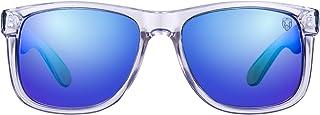 Tom Martin UV Protected Wayfarer Men's Sunglasses - (TM-1862SP-AA|57|Mirrored Blue Color Lens)
