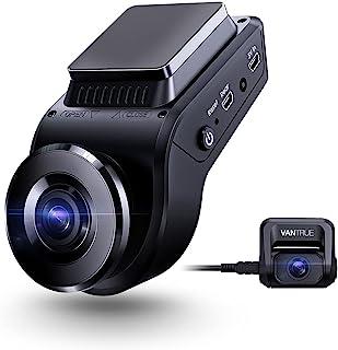 VANTRUE S1 4K Double 1080P Caméra Embarquée pour Voiture, Dashcam Avant 2880 x 2160P, Vision Nocturne, GPS Intégré, 24 H M...