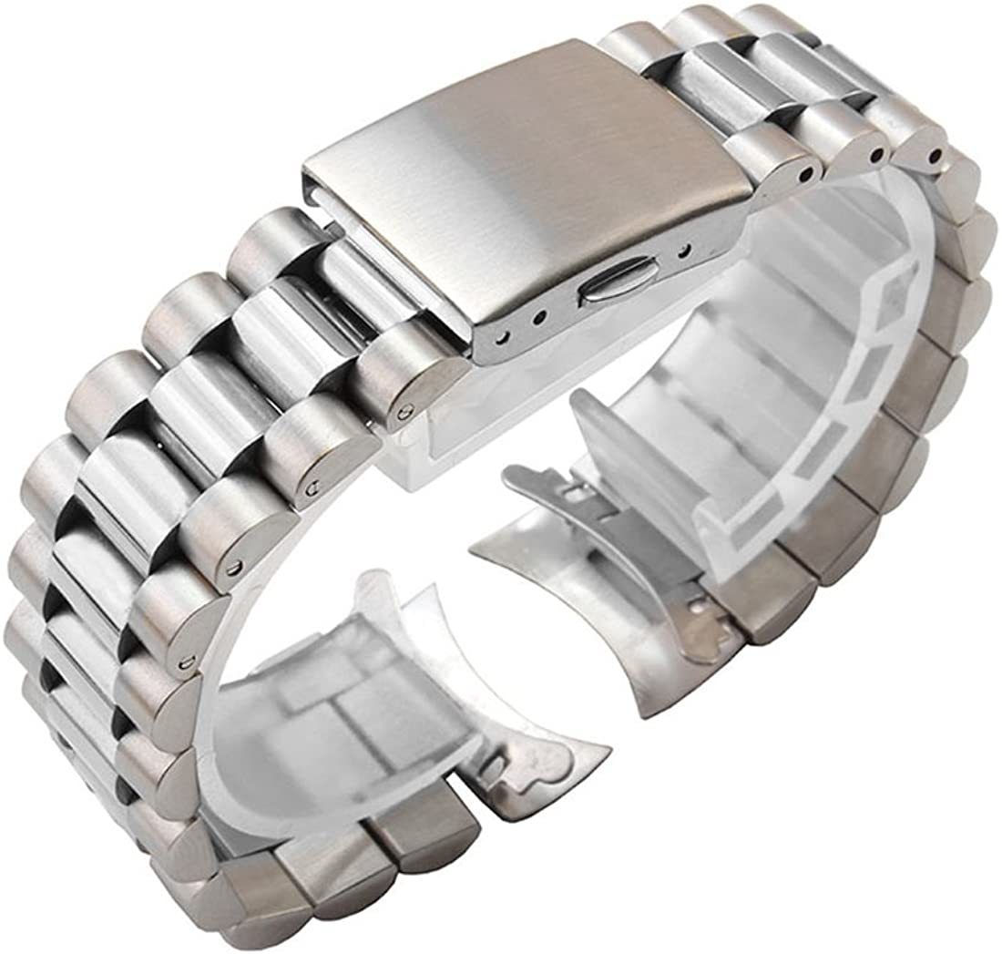 Attention brand 22mm mart Solid Stainless Steel President Oyster Replacement Bracelet