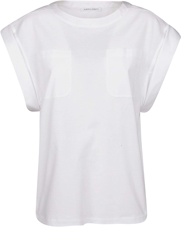 Alberta Ferretti Women's A070101720001 White Cotton TShirt