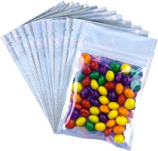 UTILIS 100-pcs of 4x6 Mylar Bags, Holographic Resealable Packaging Bags for Food and Candy Storage, Cute Lip Gloss Small S...