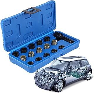 Qiilu M16 Spark Plug Repair Tool Kit Thread M14 x 1.25, 16 PCS Screw Tap and Screw Thread Tool Set