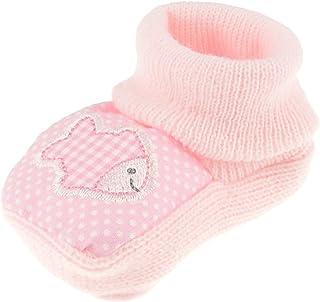 Glamour Girlz - Calcetines de punto para bebé, diseño de animales rosa rosa Talla:Fish Pink