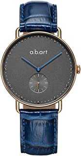 abart FR36-004 Grey Dial Wrist Watch for Women Croco Alexander Calf Leather Strap Dress Watches