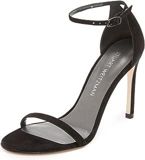 STUART WEITZMAN Women's Nudistsong Sandals, Black, 8 B(M) US