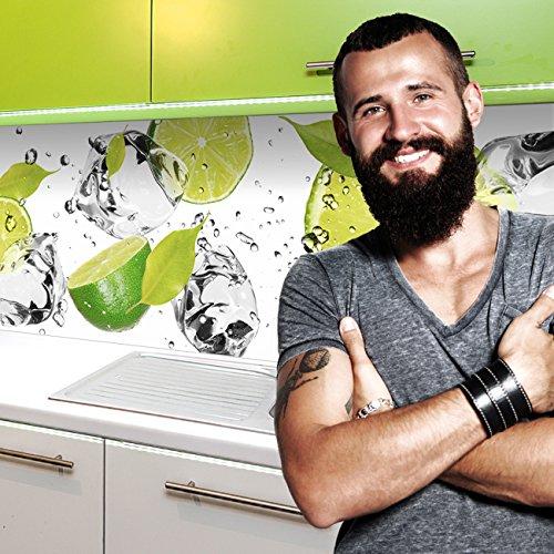 """Küchenrückwand selbstklebend Pro """" LIMETTEN UND EIS """" 60 x 340cm DIY - Do It Yourself"""