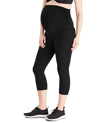 Belly Bandit Essential Maternity Capri Leggings (Black) Women