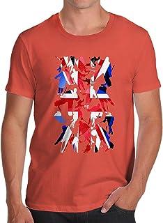 TWISTED ENVY Novelty Tshirts Men GB Ice Hockey Silhouette