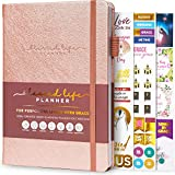 Blessed Life Planner – Weekly & Monthly Goal Planner for Christians – Life Organizer for Task Setting & Time Management – Bible Journal for Women & Men – Undated, 5.8x8.3″ Hardcover (Rose Gold)