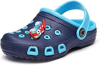 Kids Clogs Boys Girls Slippers Toddler Sandals Garden Shoes Lightweight EVA Slip-On Shoes for Beach Pool Summer Blue 35/20...