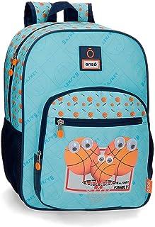 Mochila Escolar Enso Basket Family, Azul, 28.5x38x12 cm