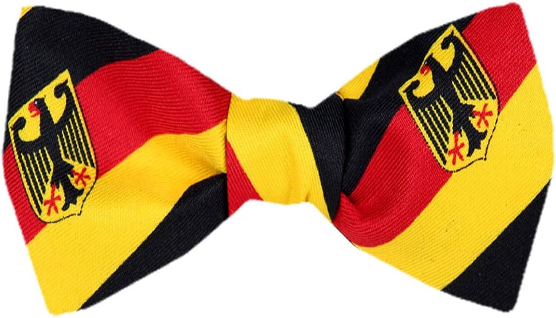 FBTFLAG315  German Flag Self Tie Bow Tie