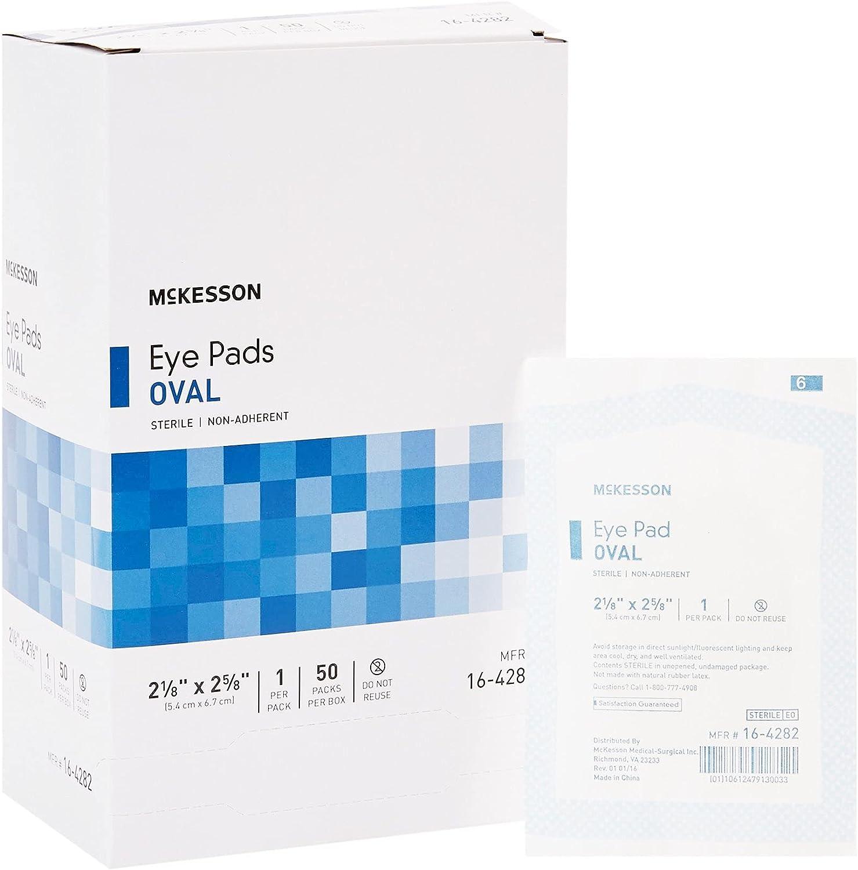 McKesson Max 64% OFF Eye Pad Cotton White Oval Arlington Mall Sterile 2-5 x 8 16-428 8