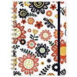 Ruled Notebook/Journal - Lined Journal with Premium Thick Paper, 8.5' X 6.4', College Ruled Spiral Notebook/Journal, Banded with Exquisite Inner Pocket, Waterproof Hardcover with Colorful Pattern