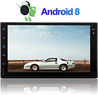 Android 8.1 Oreo Car Bluetooth Radio Double 2 Din Car Stereo Head Unit in Dash Auto GPS Navigation Audio System 7 inch Touch Screen 8 Core Tablet Radio Support 2GB 32GB WiFi 1080P Video SWC Video Out