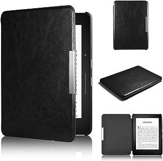 Capa para Kindle Paperwhite (todas as edições até 2018) - Rígida - Fecho Magnético - Hibernação - cor preta