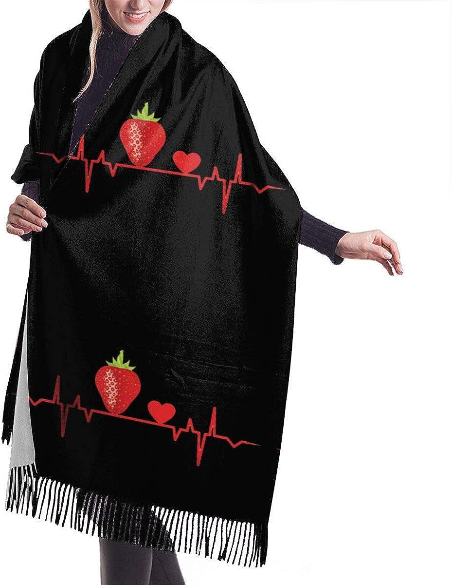 Strawberry Heartbeat Love Winter Scarf Cashmere Scarves Stylish Shawl Wraps Blanket