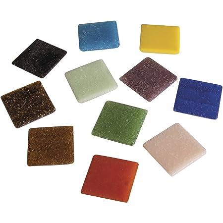 Rayher 1453149 mosaà¯que de Verre 2 x 2 cm, Mélange de tesselles mosaà¯que, Seau DE 1 kg (env. 325 Pièces), Carreaux mosaà¯que Idéals pour la Décoration dans la Maison et à l€™extérieur, Multicolore