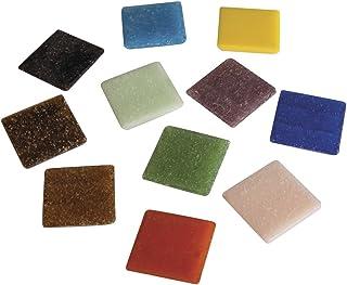Rayher 1453149 mosaà¯que de Verre 2 x 2 cm, Mélange de tesselles mosaà¯que, Seau DE 1 kg (env. 325 Pièces), Carreaux mosa...
