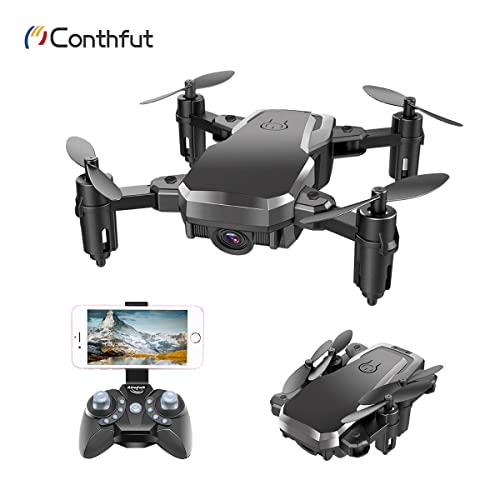Conthfut 1 Drone C16W WiFi FPV Quadcopter with 720P Camera Mobile APP Control RC Helicopter for Kids and Beginners
