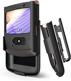 BELTRON Case with Clip for Motorola RAZR 5G (AT&T / T-Mobile), Snap-On Protective Cover with Rotating Belt Holster Combo &...