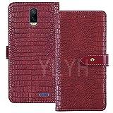 YLYT Flip TPU Silikon Case Etui Rot Leder Tasche Schutz