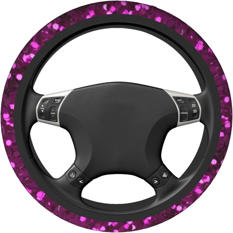 Purple Red Hexagon Elastic Louisville-Jefferson County Mall Steering Cover Universal Max 42% OFF 15 Inc Wheel