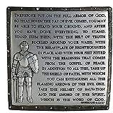 Decorative Armor of God Desk Plaque 4.5 inch Resin Stone Decorative Desk Plaque