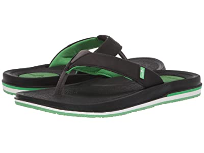 Sanuk Beer Cozy 3 (Black/Green) Men