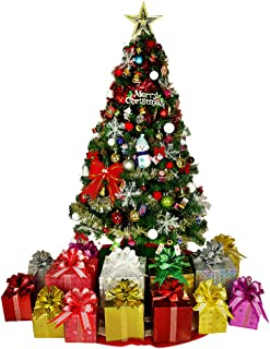 Artificial Christmas Tree with Light, Flame Retardant Xmas Tree with Decorations Holiday Decor PVC New Year Ornament-a 180cm(6 Feet)