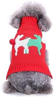 Oncpcare hundkostym för jul, söt, med milu hjortar, för små hundar eller katter, M, röd