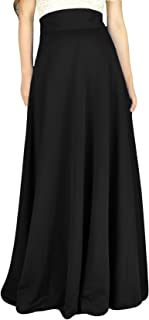 Women's High Waist A-Line Pleated Solid Vintage Swing Maxi Skirts Midi Skirt Party