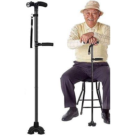 Bastone da Passeggio con stampelle Canne 9 Livelli di Altezza Regolabili per Uomini o Donne Invalido e Anziano Bastone con Antiscivolo Basamento Pesante da Passeggio di Sicurezza