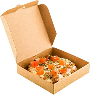 Mini Pizza Box, Mini Square Cardboard Pizza Box, Disposable Pizza Box - Kraft Brown - 3.5