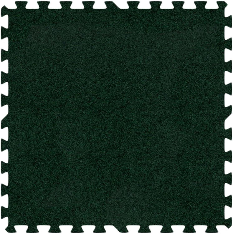 Alessco EVA Foam Rubber Interlocking Premium Soft Carpets 10' x 10' Set Emerald Green