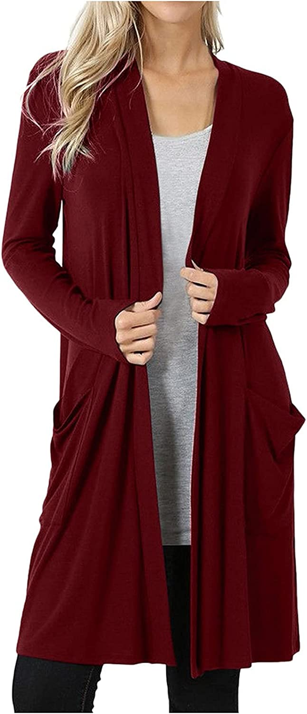 Cardigan Sweaters Fashion Women Long Sleeve Solid Cardigan Autumn Casual Coat Blouse Top