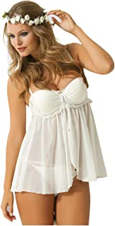 NBB Bridal Women Sexy Fancy 2pcs Lingerie Push up Babydoll Bra and Bikini  Set 1ed8d8e86