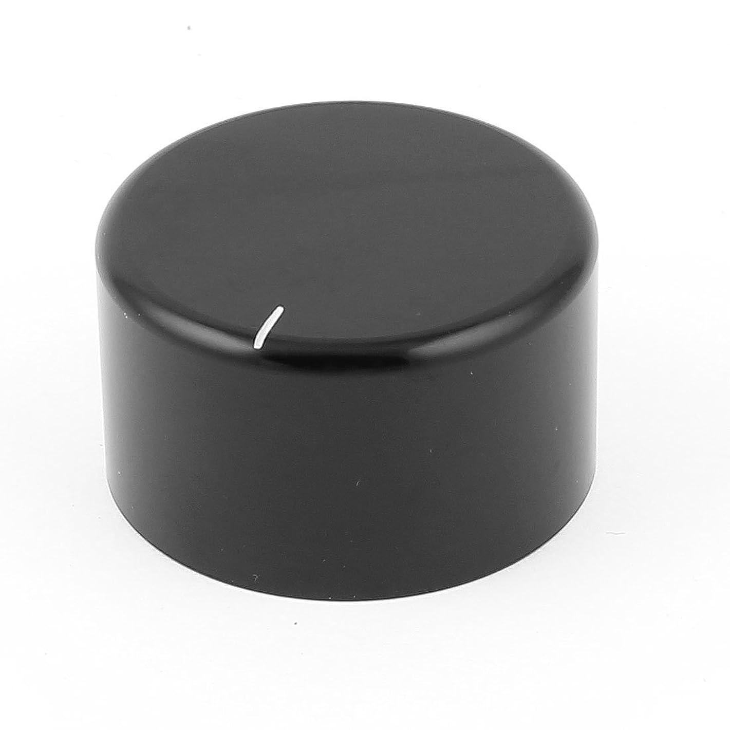 uxcell Black CNC Solid Aluminum HiFi Speaker Radio Volume Knobs 38x22mm