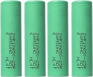 Battery 4PCS 18650 Flat top 3.7V 2500mAH Li-ion Rechargeable Batteries for Flashlight Torch Light doorbell Fan More